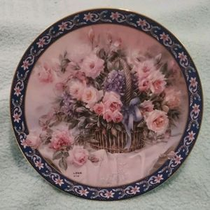 """ROSES"" collector plate LENA LIU Basket Bouquets"